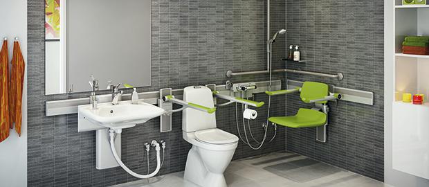 Tipos de soportes para lavabo de Pressalit Care